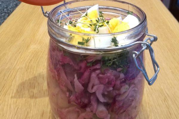 Kohlsalatbowl  mit Nudeln